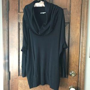 Sejour Black Cowl Neck Pullover Size 3X